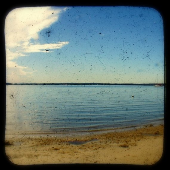 Beach Photo 5x5 TtV Vintage Style Ocean Photography Print - Coastal Photograph