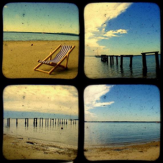 Rustic Beach Photo Set 5x5 Ttv Beach Photography Home Decor Coastal Prints